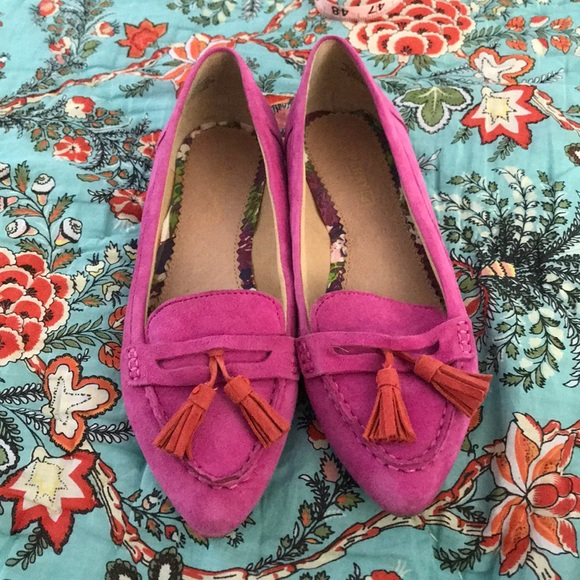Sperry Shoes   Pink Suede Loafers With